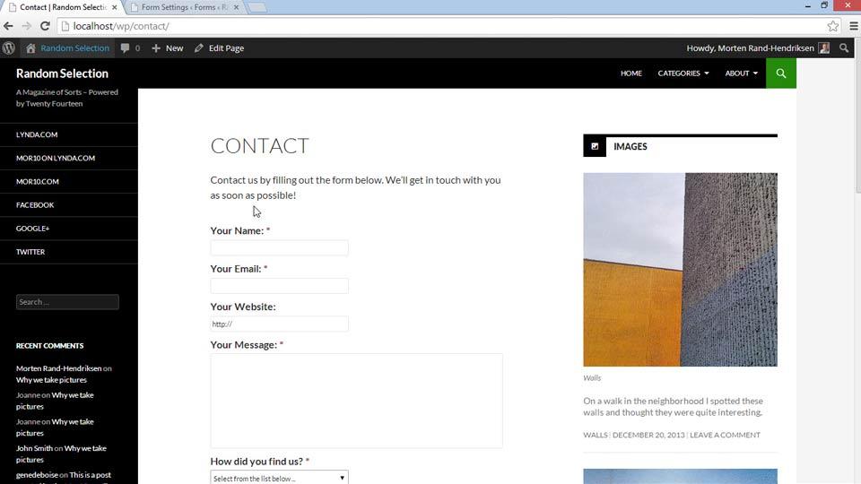 دانلود رایگان فیلم های آموزشی lynda | WordPress Plugins: Contact Forms