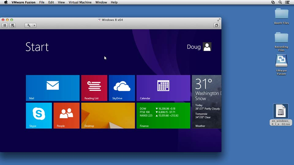 Welcome: Installing Windows 8 in VMware Fusion
