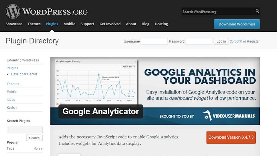 Welcome: WordPress Plugins: Analytics