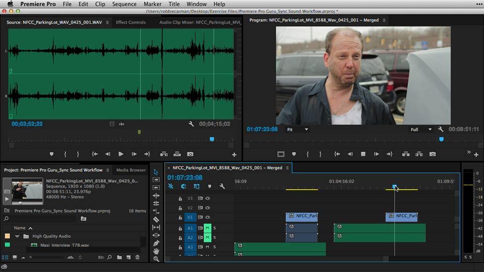 Welcome: Premiere Pro Guru: Sync Sound Workflow