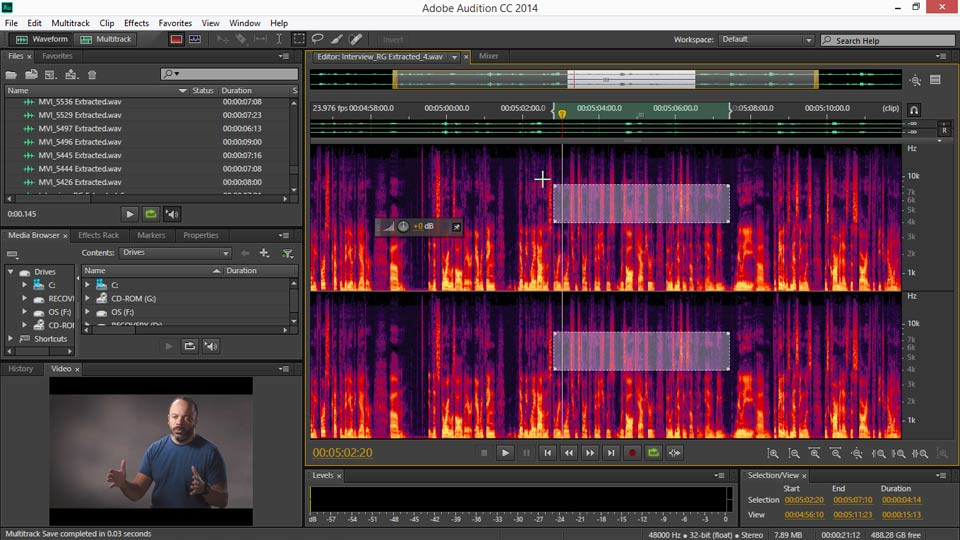 Welcome: EPK Editing Workflows 04: Audio Cleanup and Special Effects