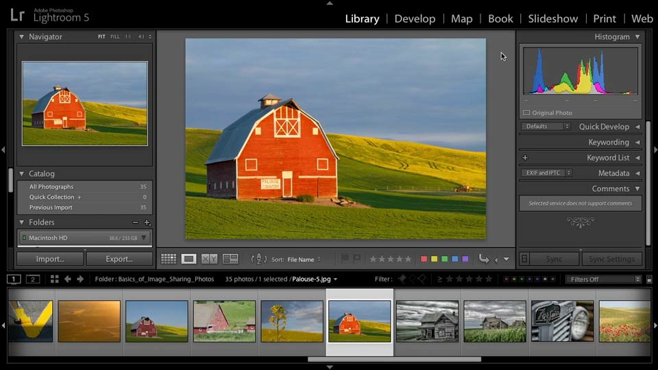 Selecting images for sharing: Lightroom 5: 03 Basics of Image Sharing