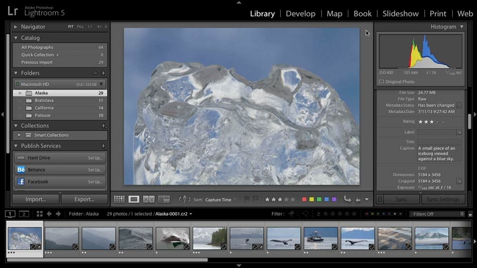 Playing a quick slideshow: Lightroom 5: 04 Creating Slideshows