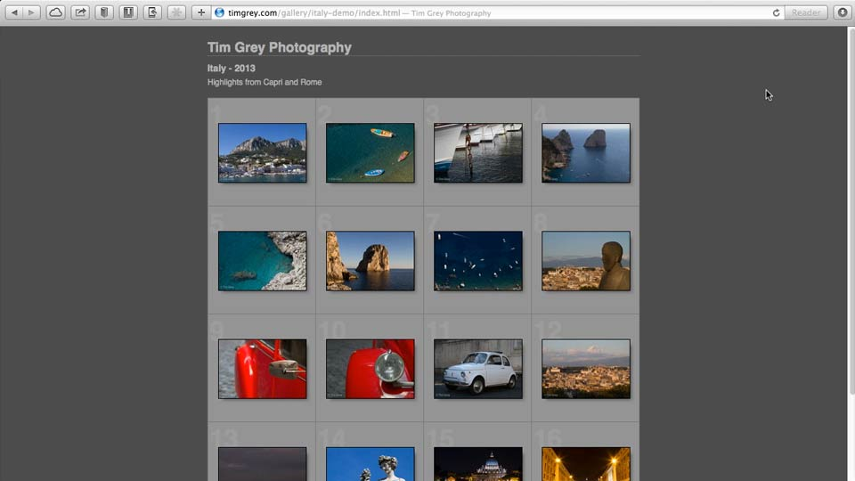 Web gallery overview: Lightroom 5: 06 Creating Web Galleries