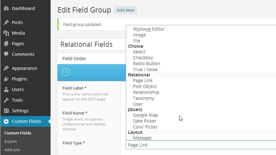 Welcome: WordPress Plugins: Advanced Custom Fields