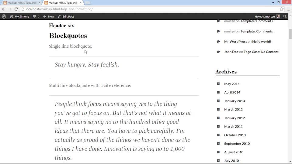Welcome: WordPress Developer Tips: Using Custom Web Fonts