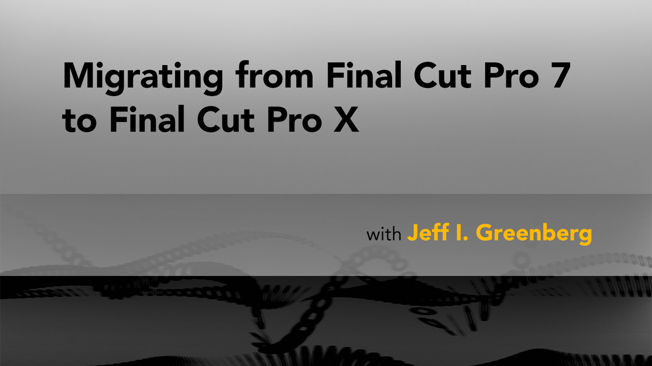 Adjusting audio source levels: Migrating from Final Cut Pro 7 to Final Cut Pro X