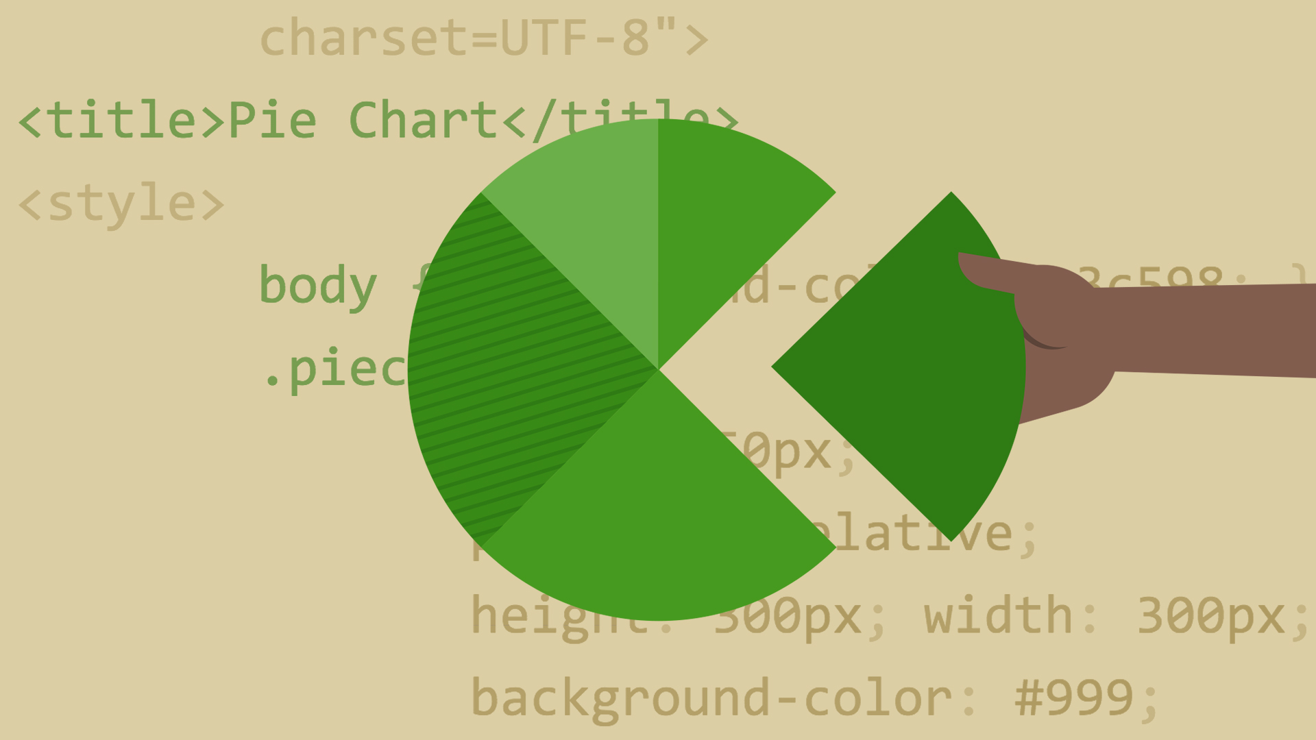 design the web: pie charts with css