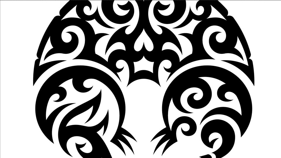 Line Drawing Vector Graphics : Drawing vector graphics tribal illustration