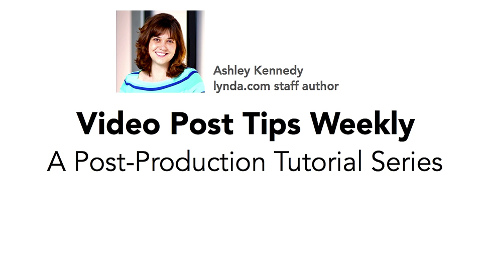Applying gradient transitions in Adobe Premiere Pro: Video Post Tips Weekly