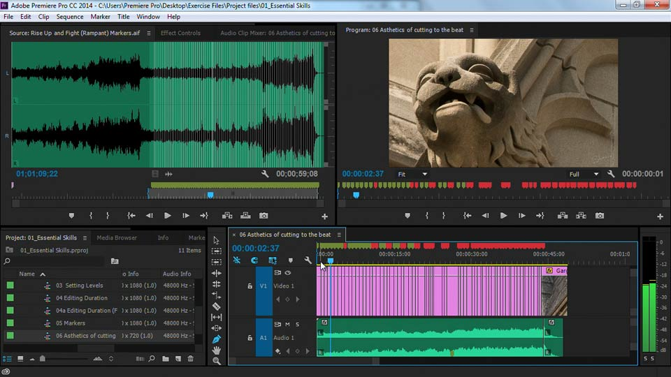 Placing markers on the beat - Premiere Pro Guru: Cutting with Music