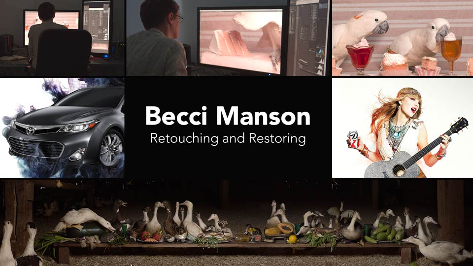 Becci Manson, Retouching and Restoring - Preview: Becci Manson, Retouching and Restoring