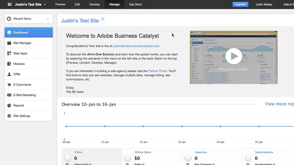 Welcome: Business Catalyst Integration with Muse