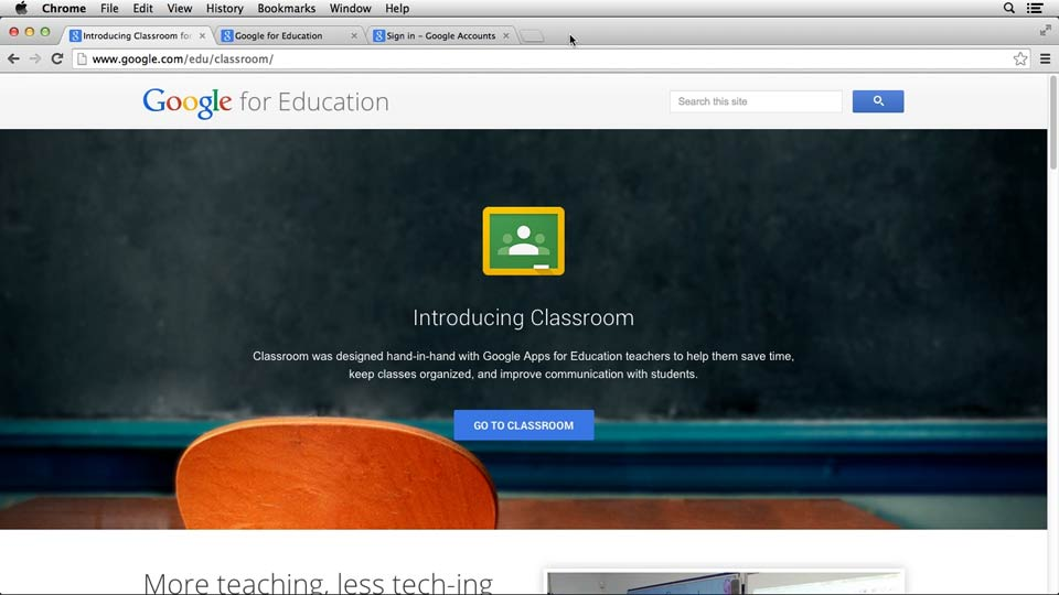 Welcome: Google Classroom: First Look
