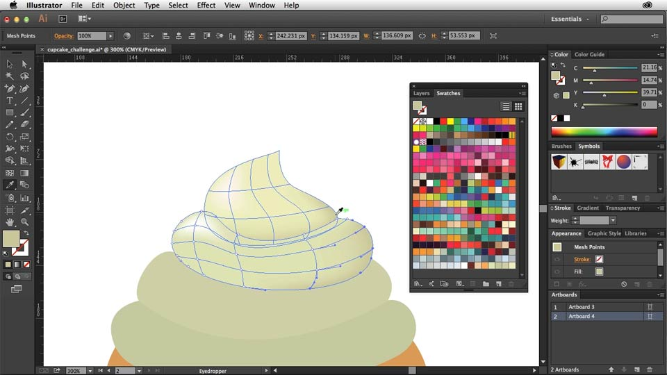 Creating Gradient Meshes With Illustrator