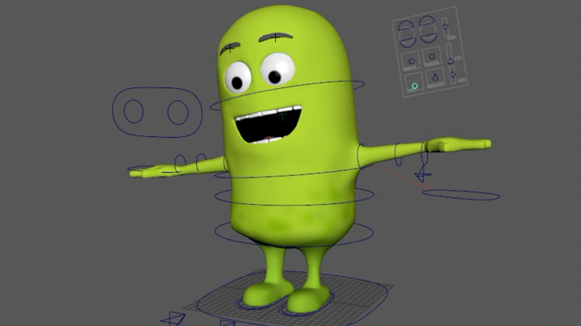 Simple Character Design Illustrator : Rigging a cartoon character in maya