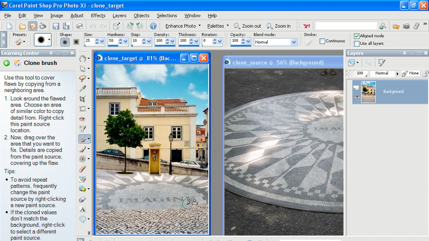 Exploring the interface: Getting Started with Corel Paint Shop Pro Photo XI