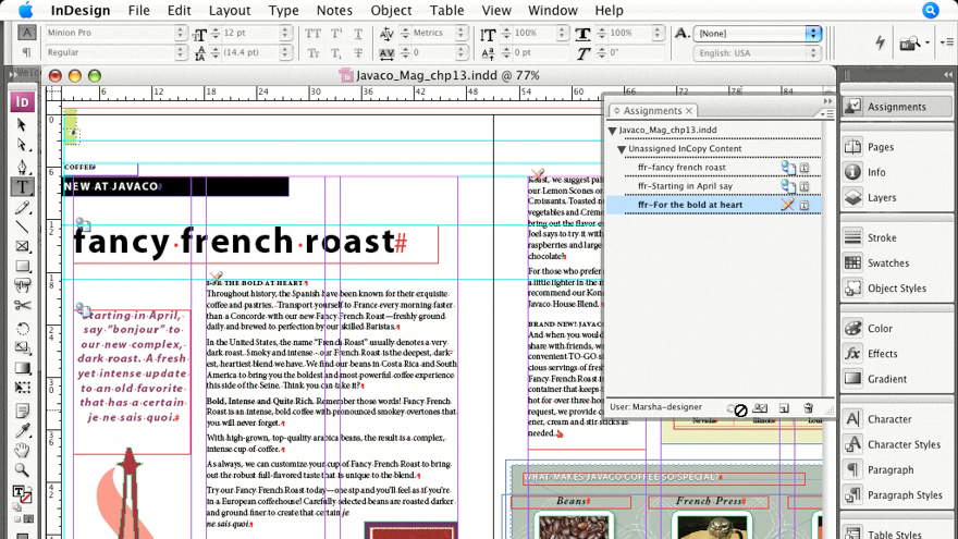 : InCopy CS3 + InDesign CS3 Integration