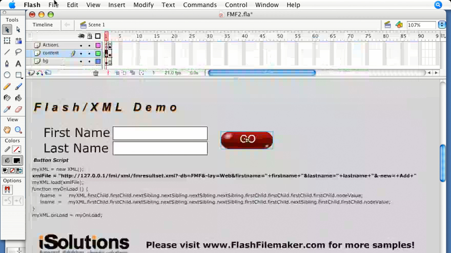 Welcome: Flash 8 and FileMaker 8.5 Integration