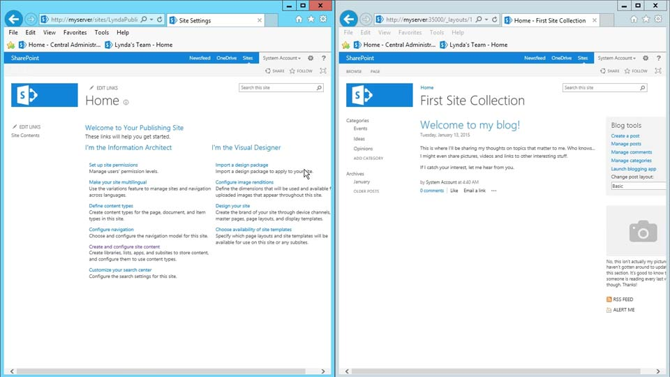 Welcome: SharePoint 2013 Site and Collection Administration
