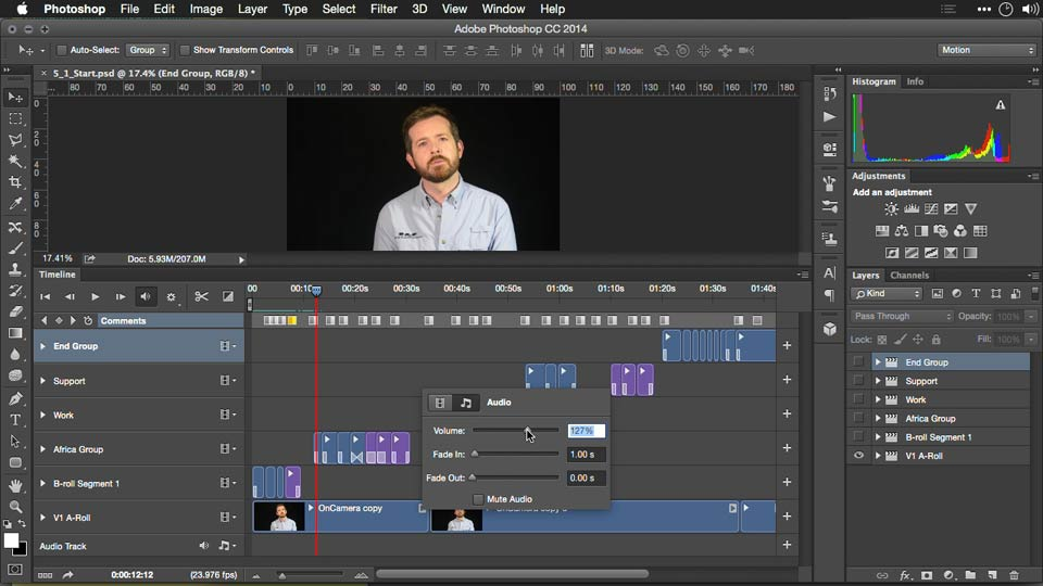 Welcome: Editing Video and Creating Slideshows with Photoshop CC