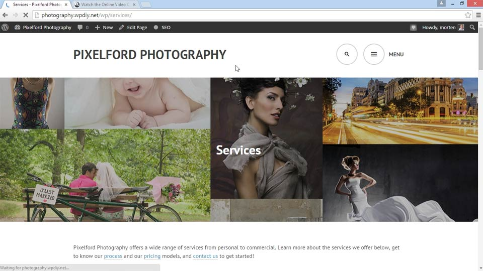 Welcome: WordPress DIY: Showcasing Photography