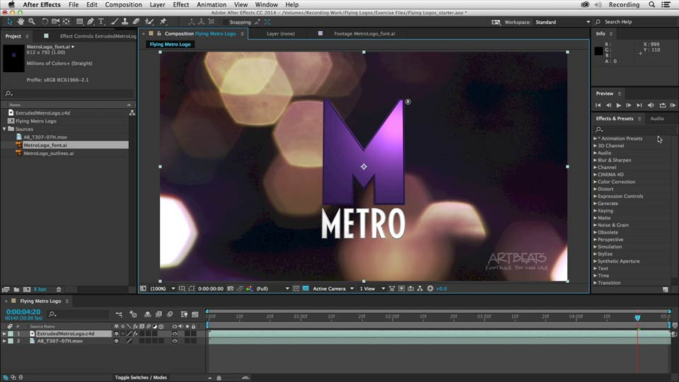 Welcome: Creating Flying Logos with After Effects and CINEMA 4D Lite