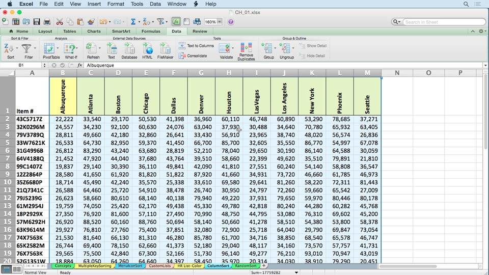 Introduction: Excel 2011 for the Mac: Managing and Analyzing Data