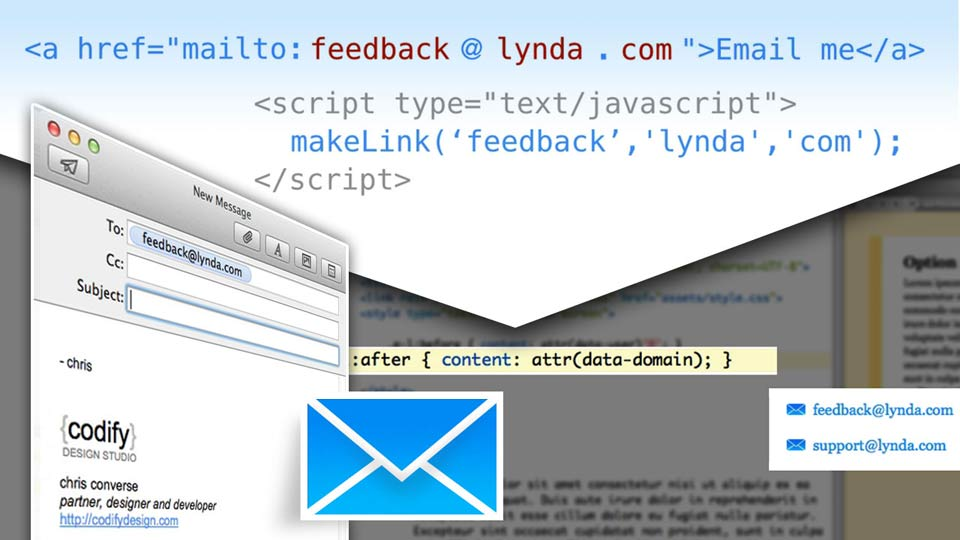 Preview the final project: Design the Web: Creating and Protecting Email Links