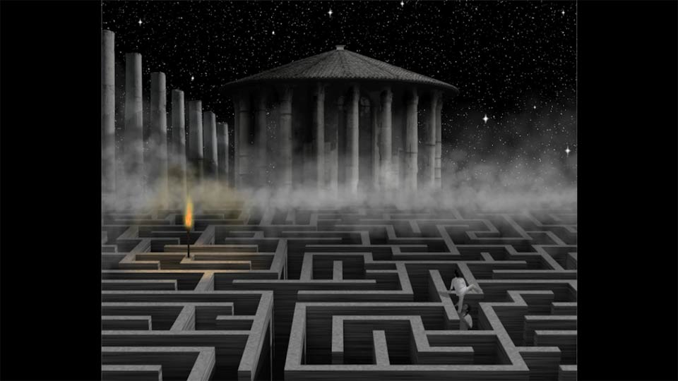 Incorporating the 3D maze: Bert Monroy: Dreamscapes - The Maze
