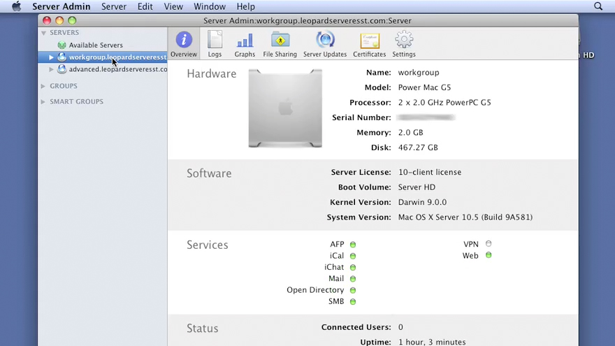 Welcome: Mac OS X Server 10.5 Leopard Essential Training