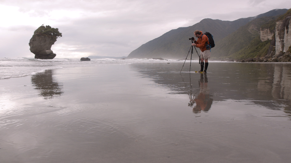 Fixing an image by increasing canvas size and using Content-Aware Fill: Photographing the Wintery Coast of New Zealand