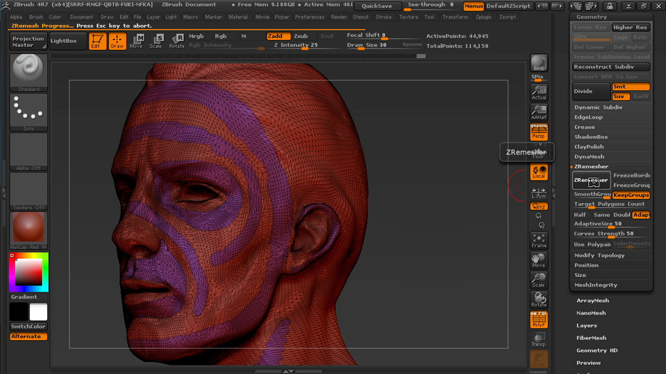 Welcome: Managing Edge Flow in ZBrush