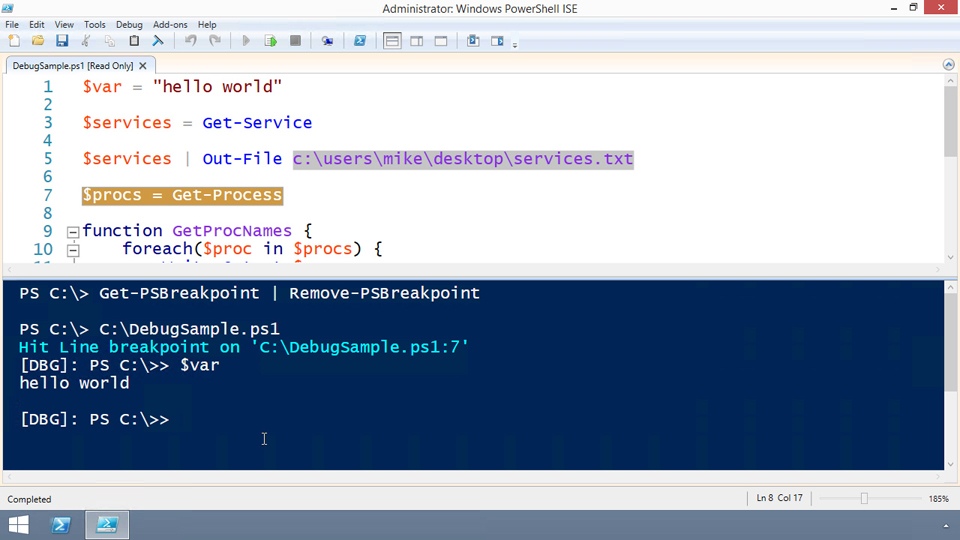 Welcome: Up and Running with the PowerShell Integrated Scripting Environment