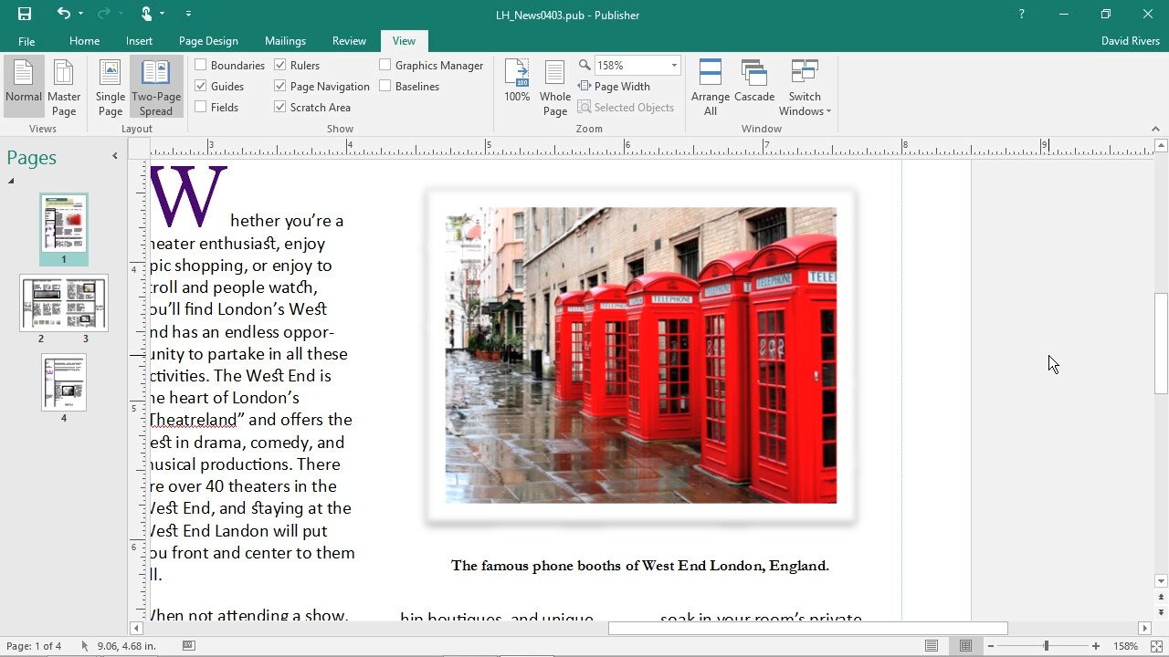 Adding captions to pictures: Office 365: Publisher Essential Training