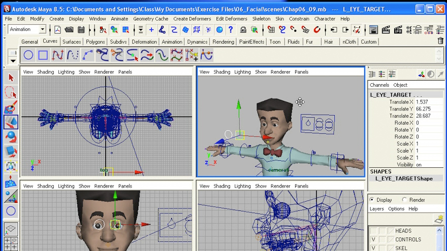 Welcome: Maya 8.5 Character Rigging