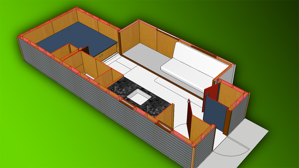 designing a tiny house with sketchup - Sketchup Kitchen Design