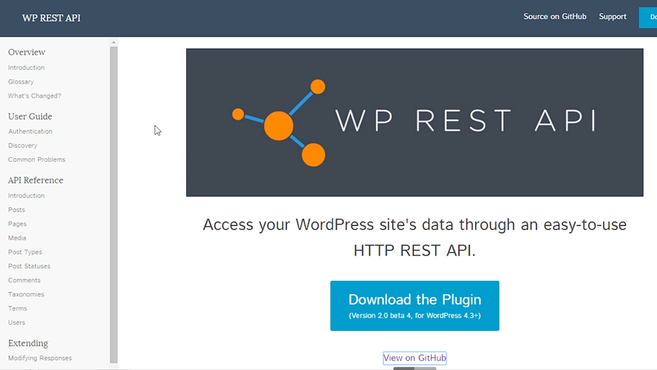 Checking the API index: WordPress REST API (WP-API): First Look