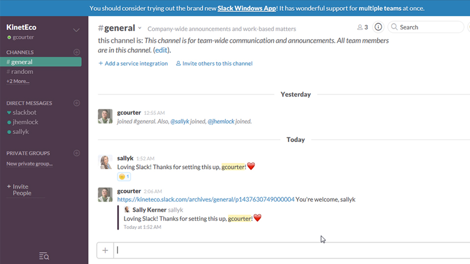 Welcome: Up and Running with Slack