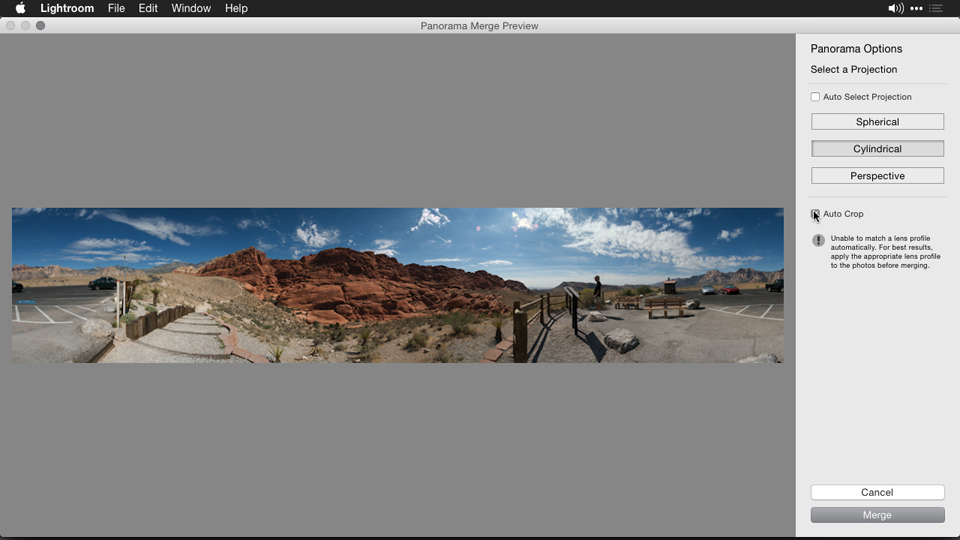 What you'll learn in this course: Creating Panoramas with Lightroom