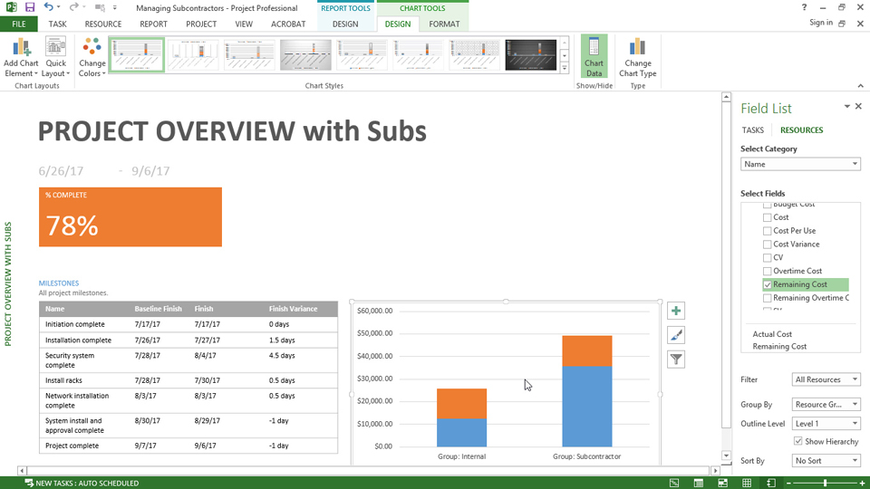 Assigning subcontractors paid by the hour: Managing Subcontractor Projects with Microsoft Project