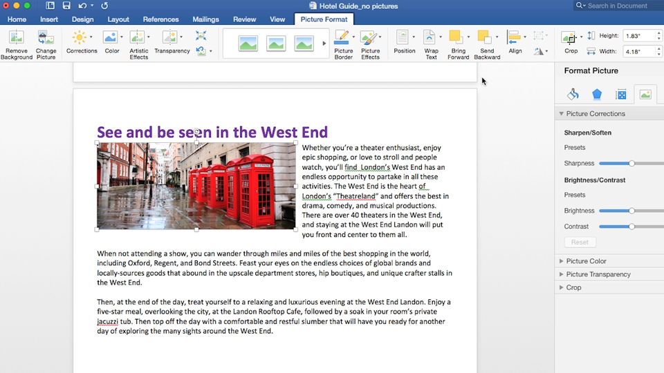 Collaborating with others using the Track Changes tool: Office 365 for Mac: Learn Word