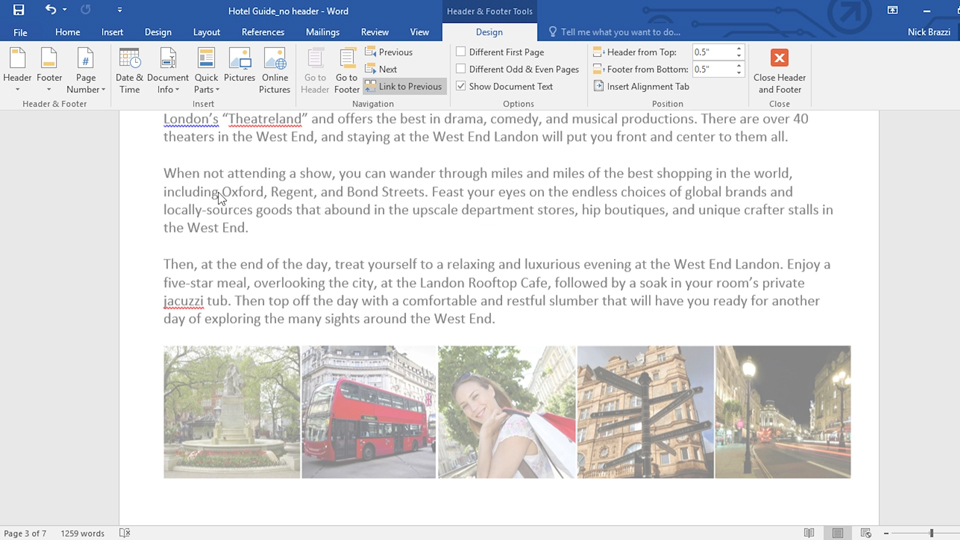 Working with styles: Learn Word 2016: The Basics