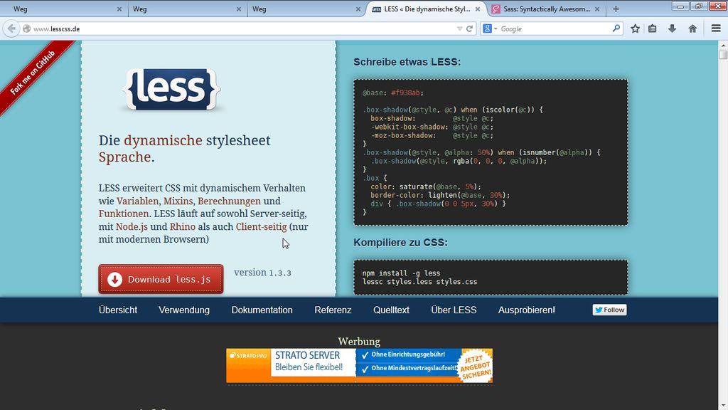 """Willkommen zu """"One-Page-Webseiten mit Bootstrap, LESS und Sass"""""""