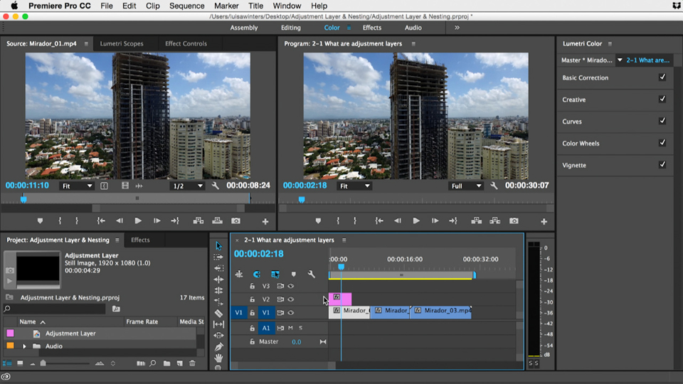 Welcome: Premiere Pro Guru: Adjustment Layers and Nesting