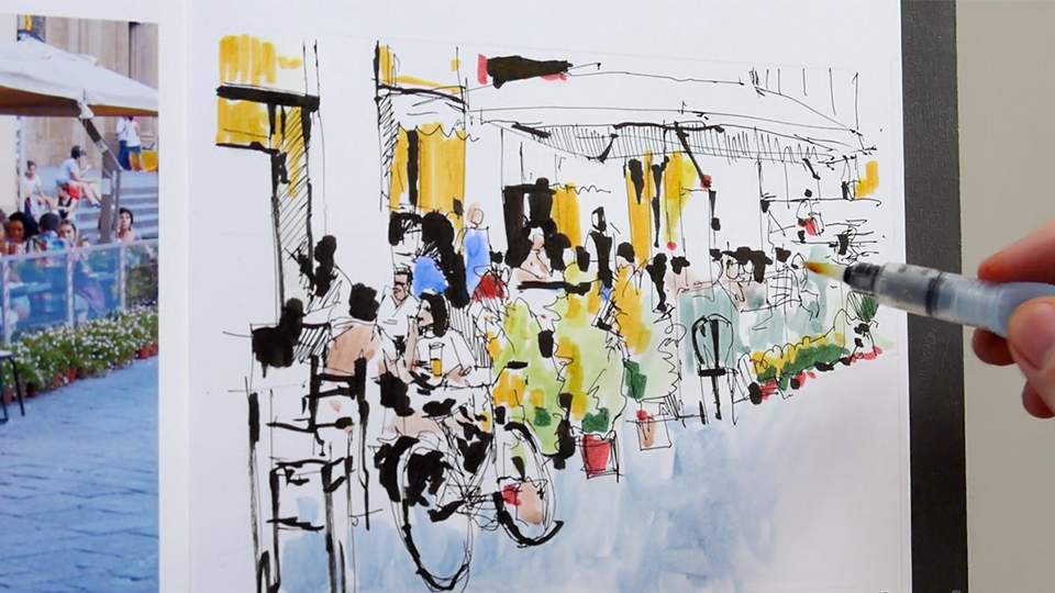 Cityscapes, rooftops, and panoramas: Foundations of Drawing: Urban Sketching