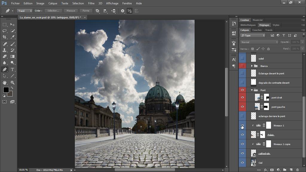 Créer Un Compositing Avec Photoshop Cc La Dame En Noir