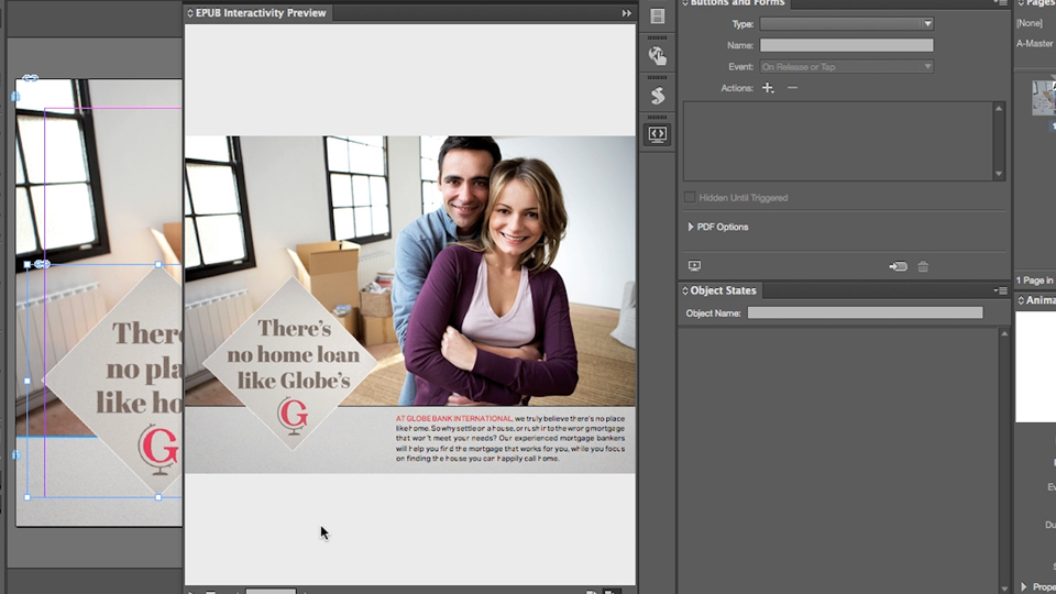 Place an animated GIF: InDesign: Fixed-Layout EPUB Interactive Techniques & Publish Online