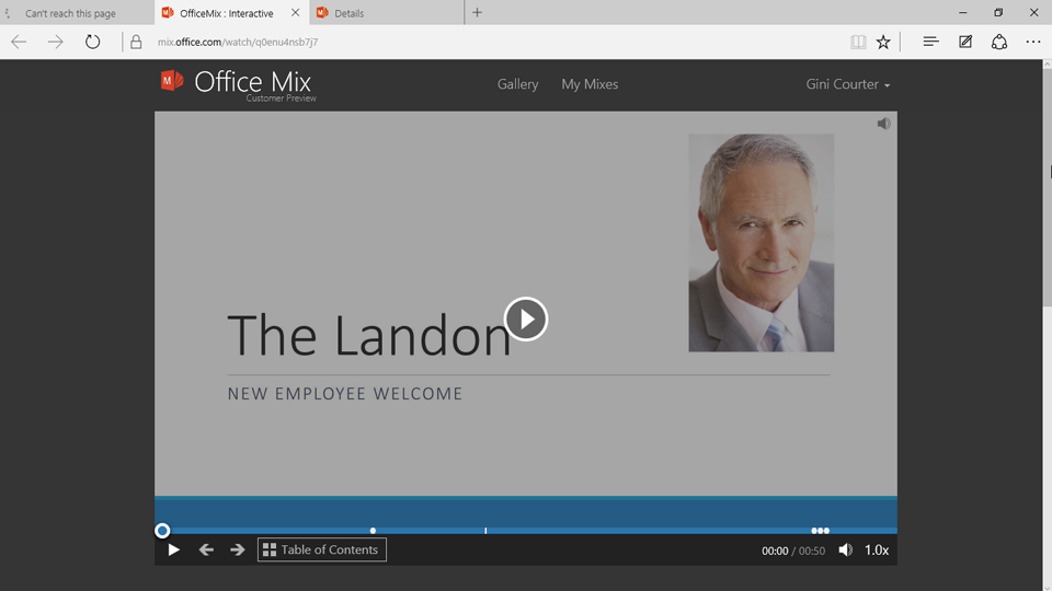 Recording annotations: Up and Running with Office Mix