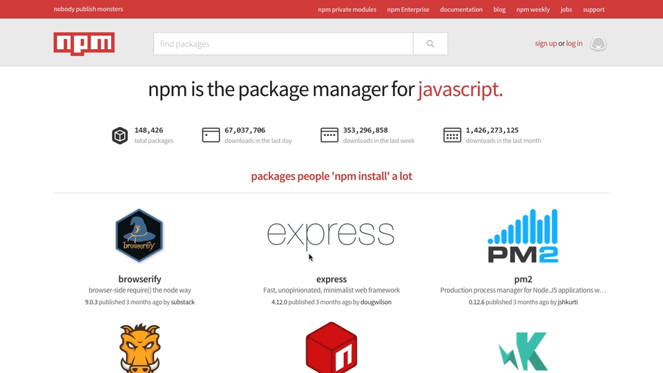 Welcome: Up and Running with NPM, the Node Package Manager